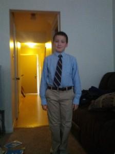 Bryce in his Maryland State Boychoir Uniform.