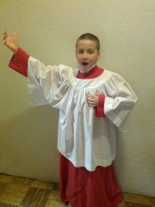 Bryce, just after the Maryland State Boychoir concert.