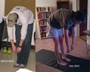 As you can see, my flexibility is horrible. And hasn't changed in 7 months of not working on it.
