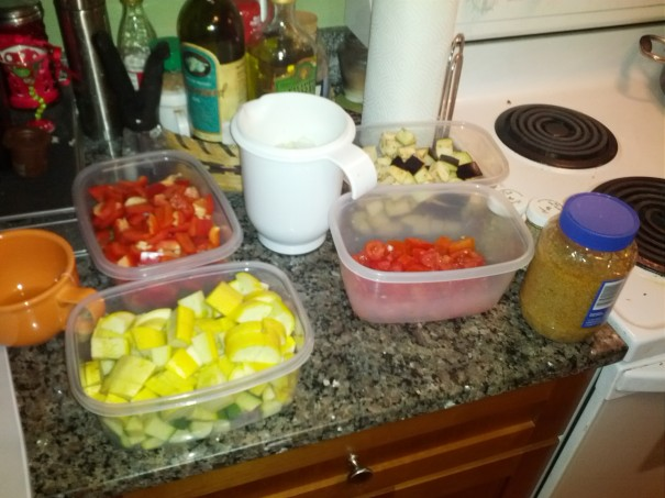 All of our Ingredients Ready to Go!