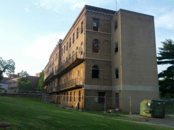 Morgan State College, Building under renovation.