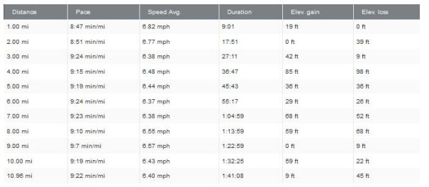11miler pace
