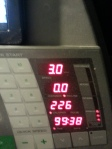 Either that was the slowest 99.38  minutes ever, or I flipped the calories and it is really 1226 not 226!