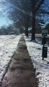 Ok, I admit it.. SOME of the sidewalks looked like this!